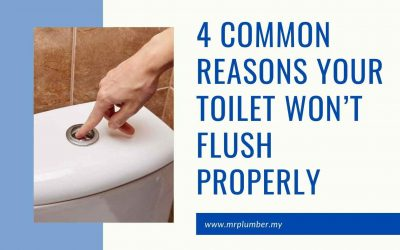 4 Common Reasons Your Toilet Won't Flush Properly [ May 2021 ]