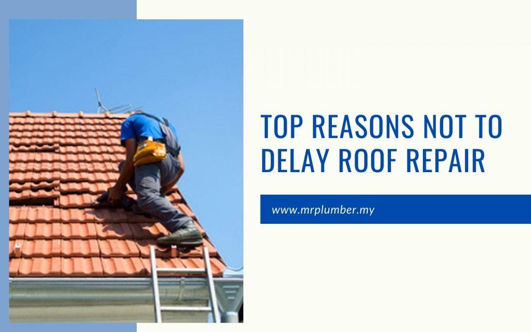 Top Reasons Not to Delay Roof Repair