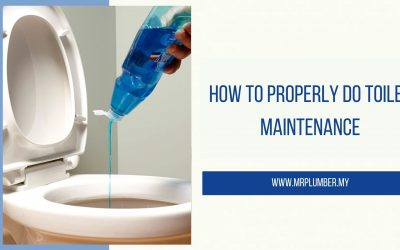 How to Properly Do Toilet Maintenance